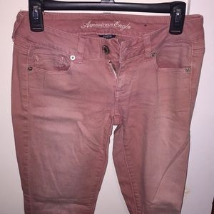 Skinny, Stretch Jeans in Light Washed Pink